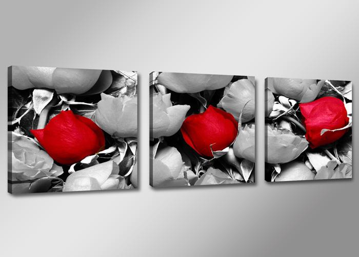 rote rosen und graue rosen. Black Bedroom Furniture Sets. Home Design Ideas