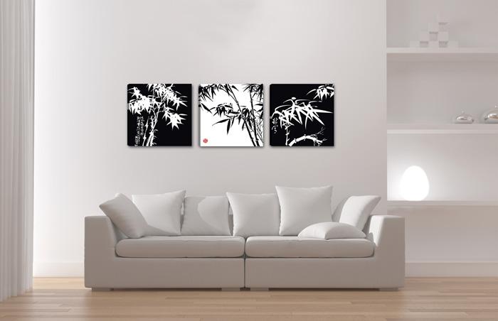 bambus abstrakt schwarz weiss. Black Bedroom Furniture Sets. Home Design Ideas