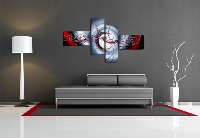 Abstrakt eisblau - Tableau grande taille design ...