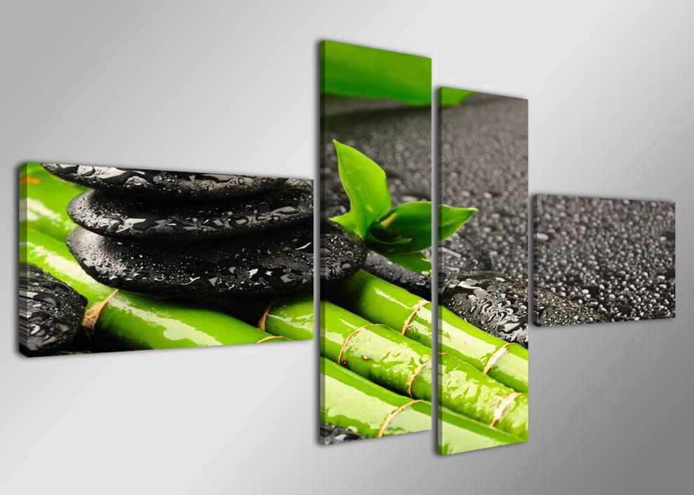 bambus und schwarze steine. Black Bedroom Furniture Sets. Home Design Ideas