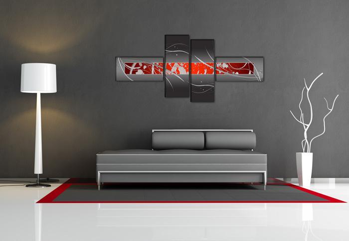 Rot grau digital for Glasbilder modern art
