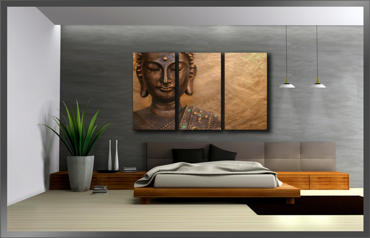 buddha 3 teilig. Black Bedroom Furniture Sets. Home Design Ideas
