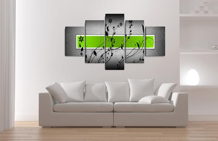 gr ner balken schwarze blumenmuster. Black Bedroom Furniture Sets. Home Design Ideas