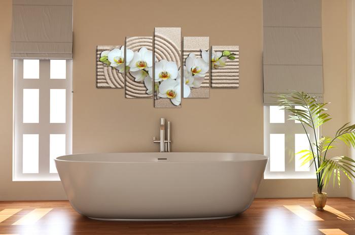 weisse orchideen und sand. Black Bedroom Furniture Sets. Home Design Ideas