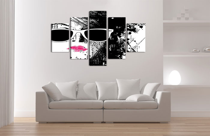 pop art m dchen mit sonnenbrille. Black Bedroom Furniture Sets. Home Design Ideas