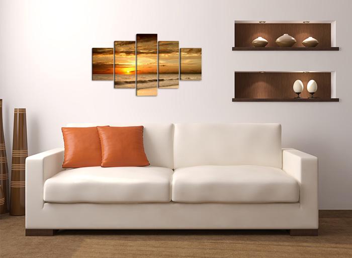 strand sonnenuntergang wellen. Black Bedroom Furniture Sets. Home Design Ideas