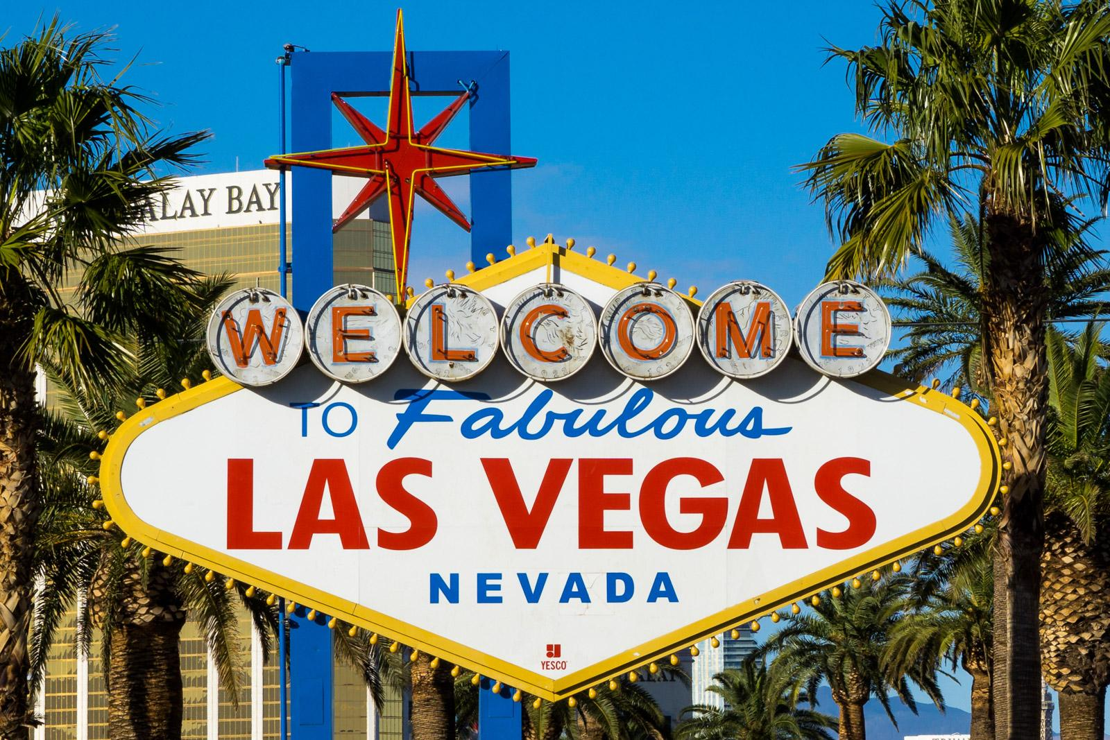 Welcome to fabulous Las Vegas Schild bei Tag
