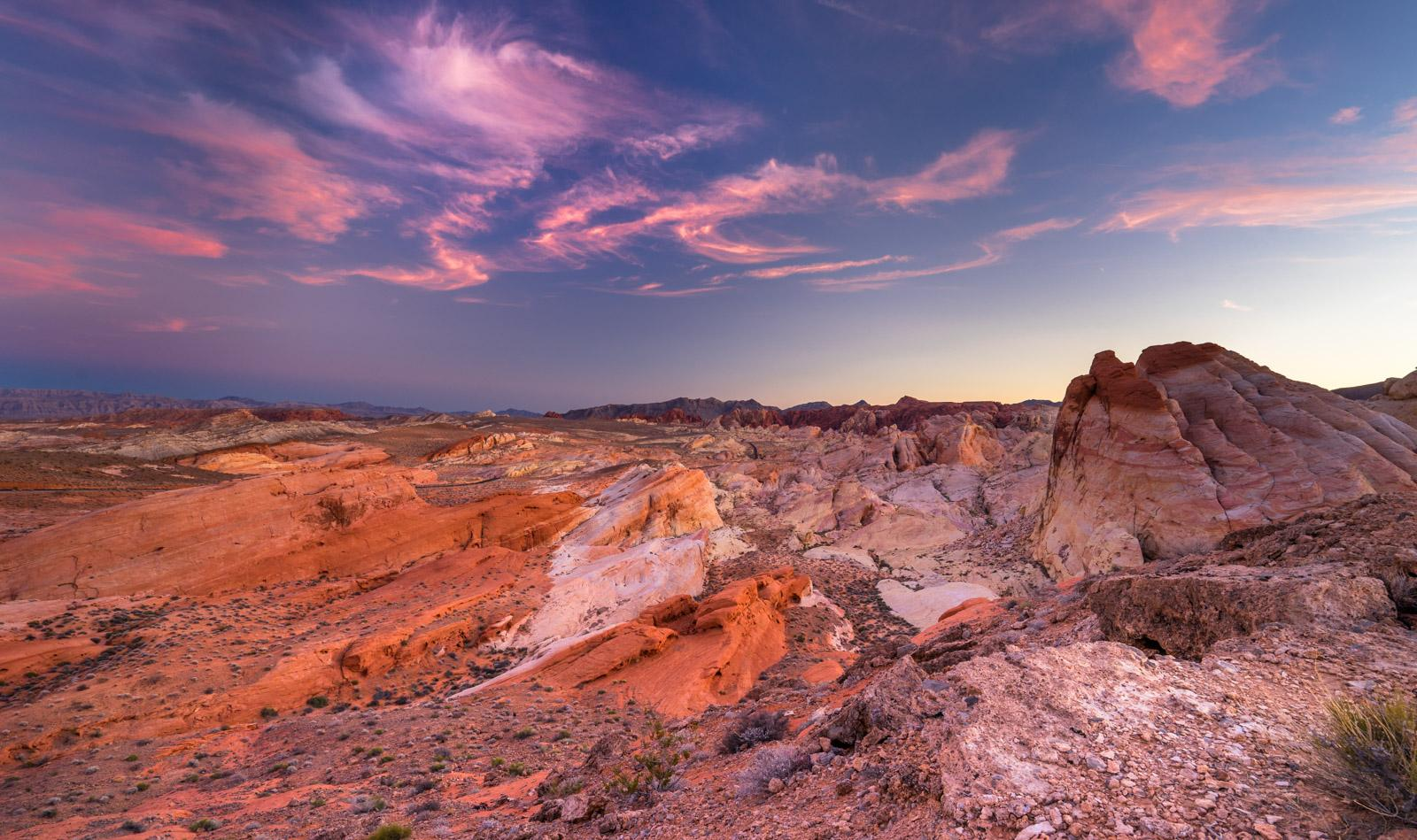 Sonnenuntergang im Valley of Fire