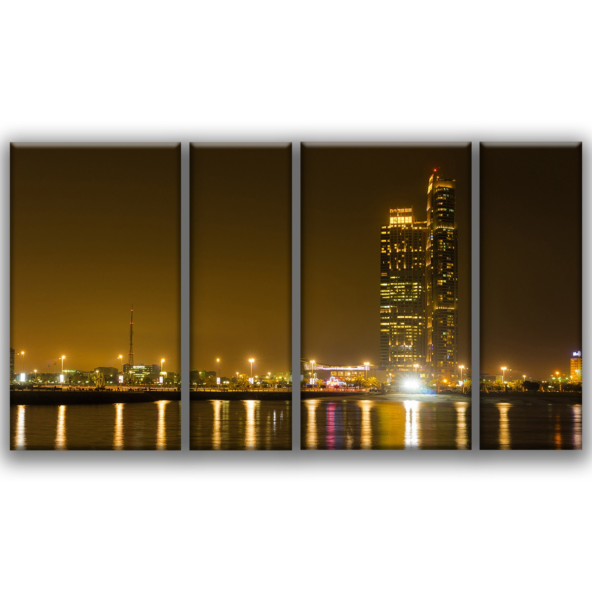 abu dhabi skyline. Black Bedroom Furniture Sets. Home Design Ideas