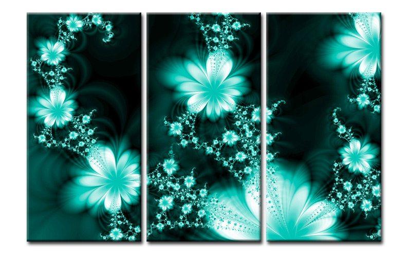 Blumen türkis abstrakt