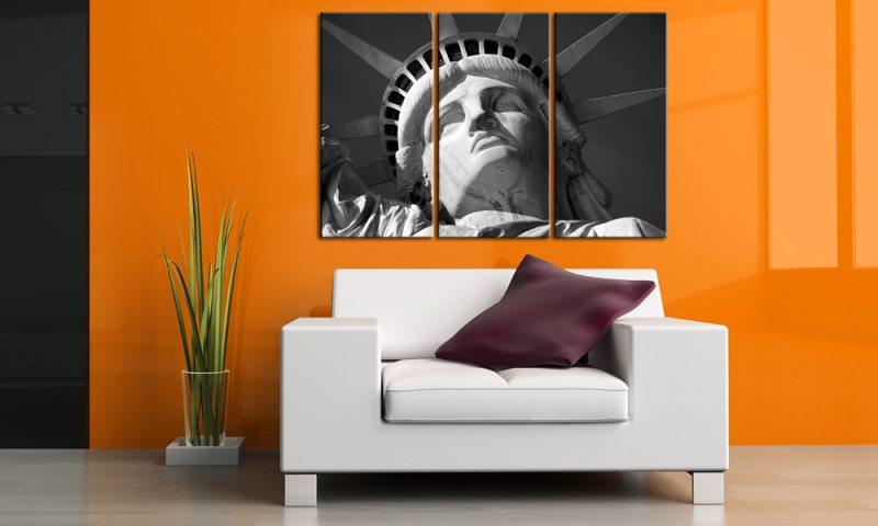 freiheitsstatue ny schwarz wei. Black Bedroom Furniture Sets. Home Design Ideas