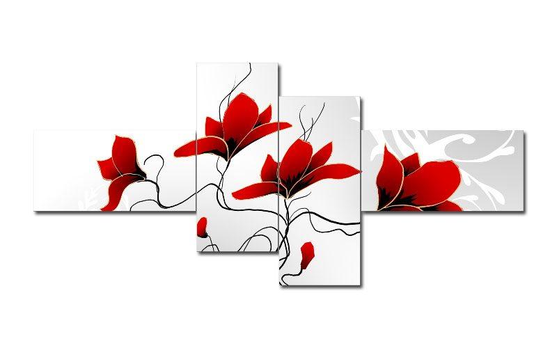 dessin fleur rouge 44401646. Black Bedroom Furniture Sets. Home Design Ideas