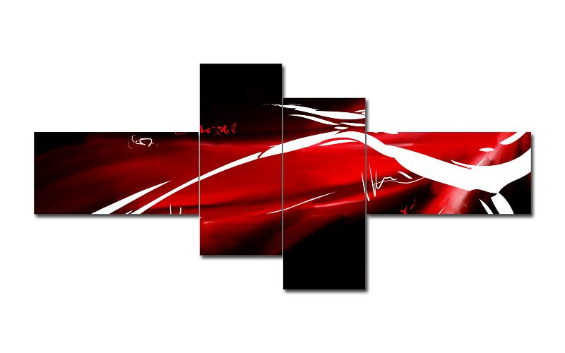 abstrakt rot weiss schwarz. Black Bedroom Furniture Sets. Home Design Ideas