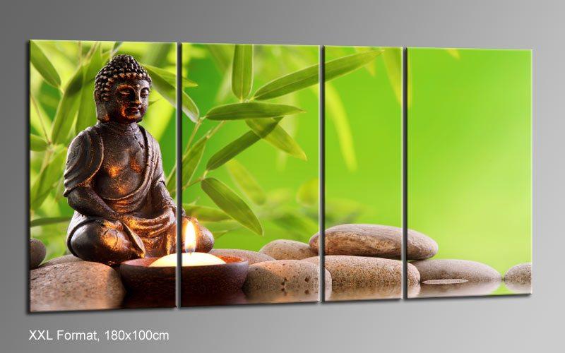 buddha mit kerze. Black Bedroom Furniture Sets. Home Design Ideas