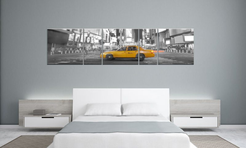 gelbes taxi panorama. Black Bedroom Furniture Sets. Home Design Ideas