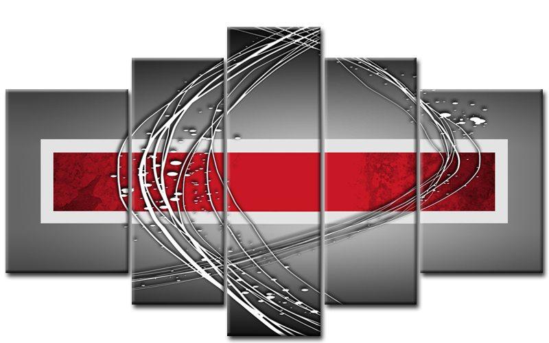 Abstrakt art deco rot 55500488 - Gemalte bilder auf leinwand abstrakt ...