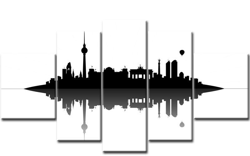 berlin skyline umrisse. Black Bedroom Furniture Sets. Home Design Ideas