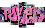 Pinkes Poker Graffiti