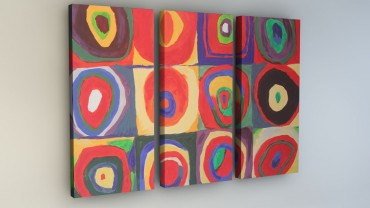 """Inspired by Kandinsky"" Quadrate – Bild 4"