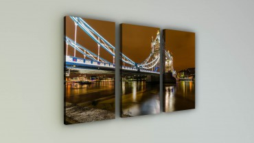 Leuchtende Tower Bridge UK – Bild 2