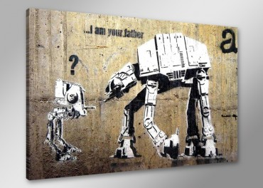 "Banksy Graffiti ""...I am your father"""
