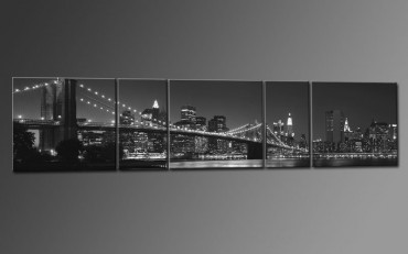 Brooklyn Bridge USA blanc-noir - 5500326 – Bild 1