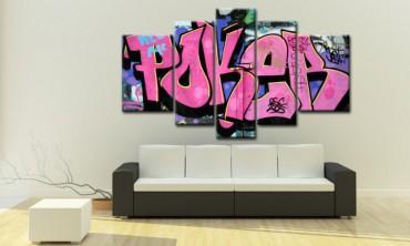 leinwandbilder graffiti online bestellen bilder 2. Black Bedroom Furniture Sets. Home Design Ideas