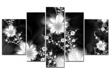 abstrakte blumen schwarz weiss 55500514. Black Bedroom Furniture Sets. Home Design Ideas
