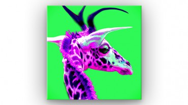 Rosa Giraffe Pop Art – Bild 1