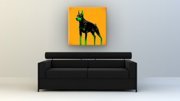 Dobermann Pop Art – Bild 2