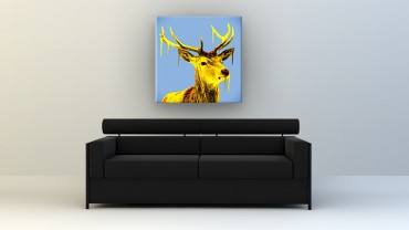 Cerf Pop Art – Bild 2