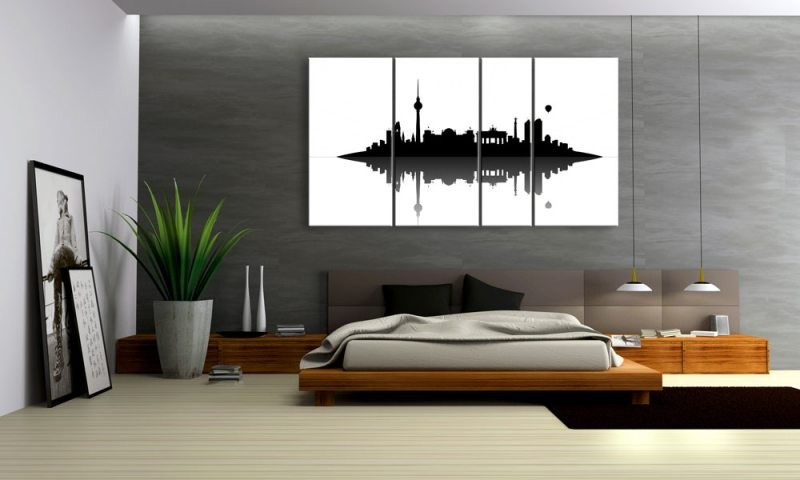berlin skyline schwarz weiss. Black Bedroom Furniture Sets. Home Design Ideas