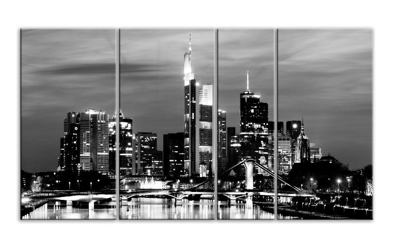 frankfurt skyline schwarz weiss. Black Bedroom Furniture Sets. Home Design Ideas