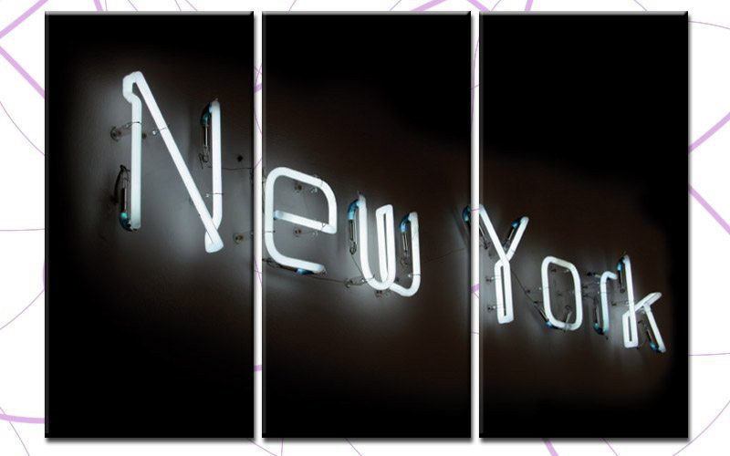 new york leuchtreklame. Black Bedroom Furniture Sets. Home Design Ideas