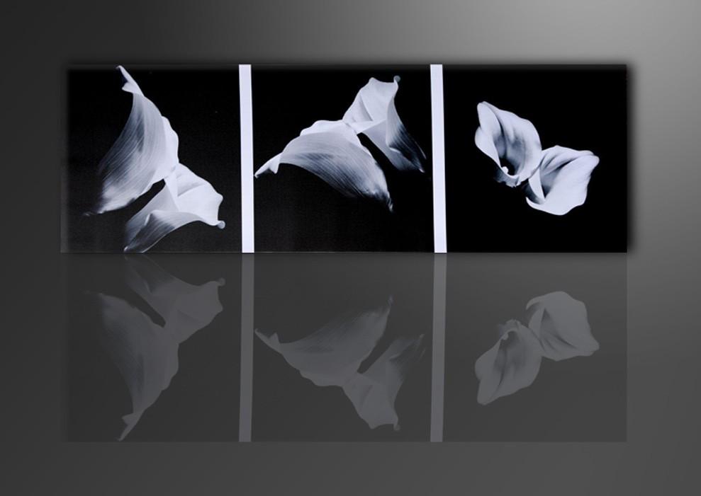 Blumen schwarz weiss