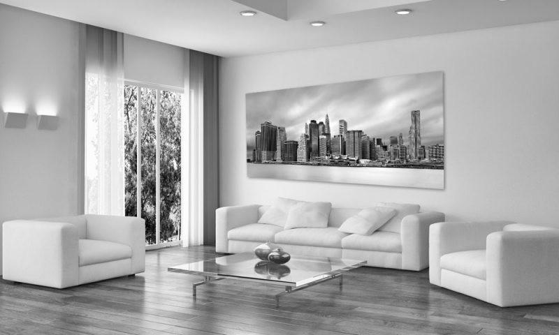 skyline new york schwarz wei. Black Bedroom Furniture Sets. Home Design Ideas