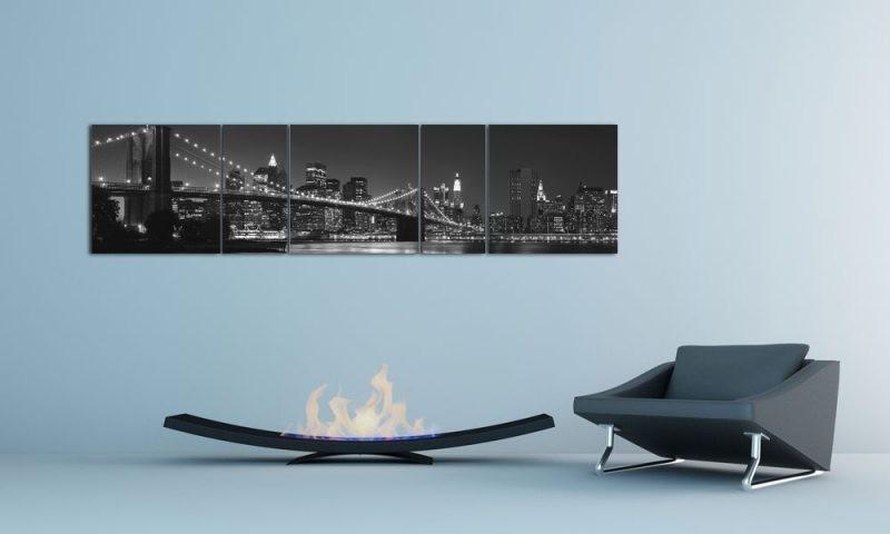 brooklyn bridge usa schwarz wei. Black Bedroom Furniture Sets. Home Design Ideas
